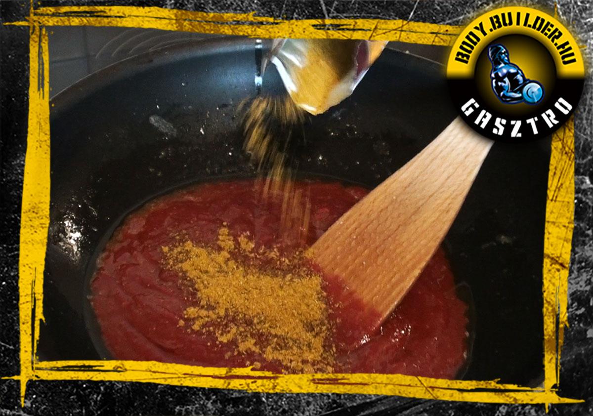 Indiai csirke recept elkészítés - IV. lépés
