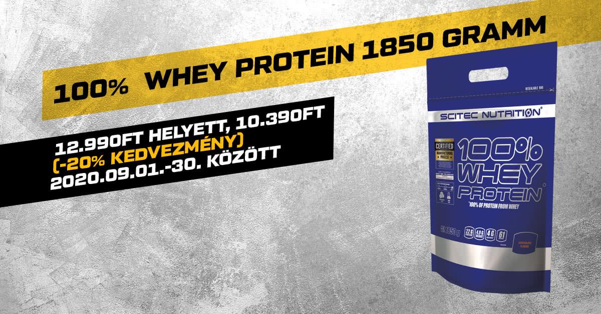 100% Whey Protein 1850 gramm