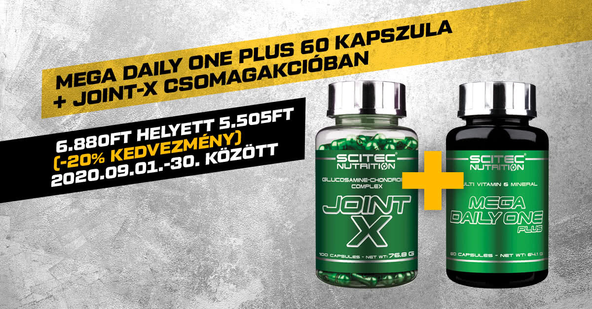 Mega Daily One Plus 60 kapszula + Joint-X csomagakcióban