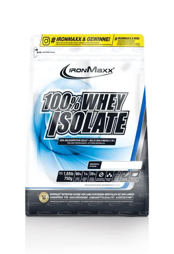 IronMaxx 100% Whey Isolate 0,75 kg