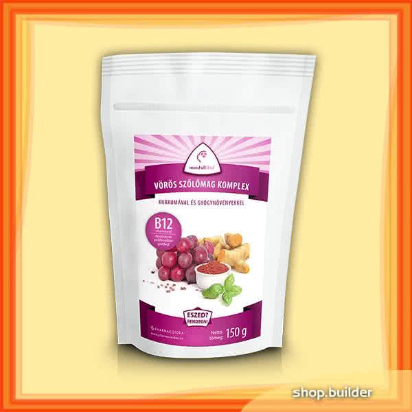 PharmacoIdea Vörös szőlőmag komplex B12 vitaminnal 150 gr.