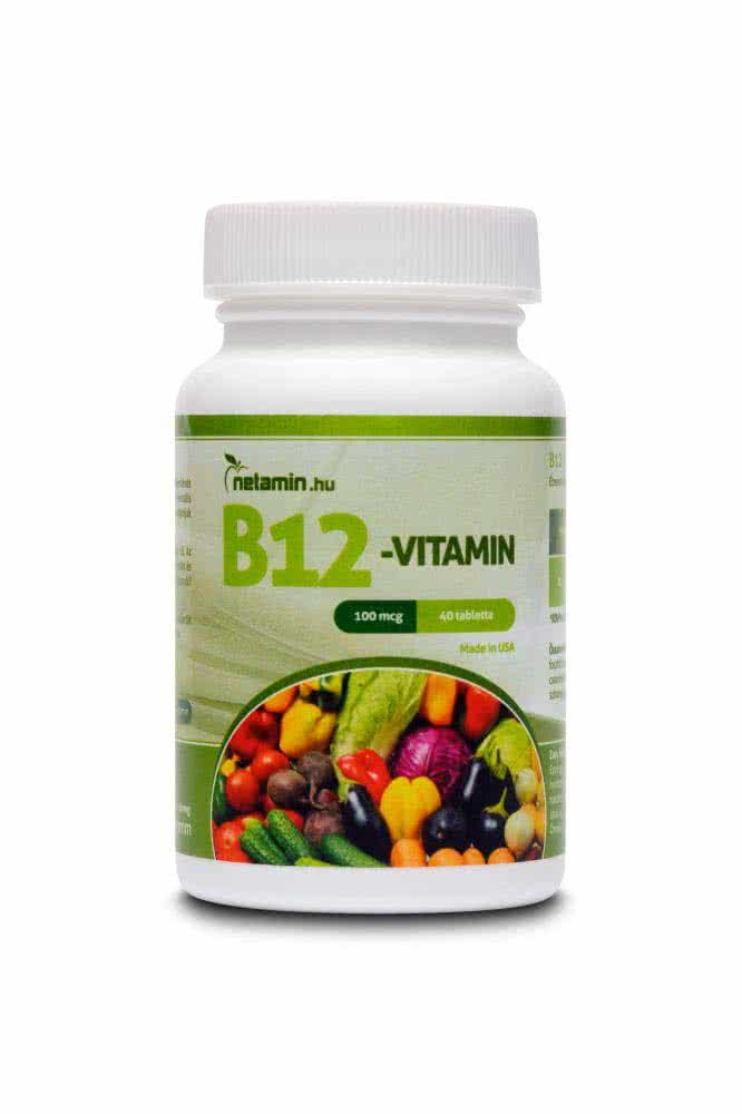 Netamin B12-vitamin 40 kap.