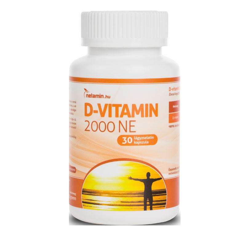 Netamin D-vitamin 2000 IU 30 kap.
