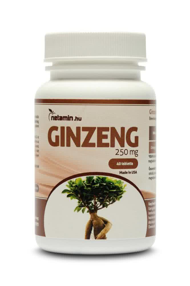 Netamin Ginzeng 250 mg 40 tab.