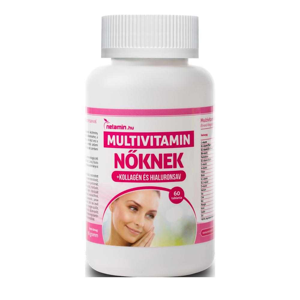 Netamin Multivitamin nőknek kollagénnel és hialuronsavval 60 kap.