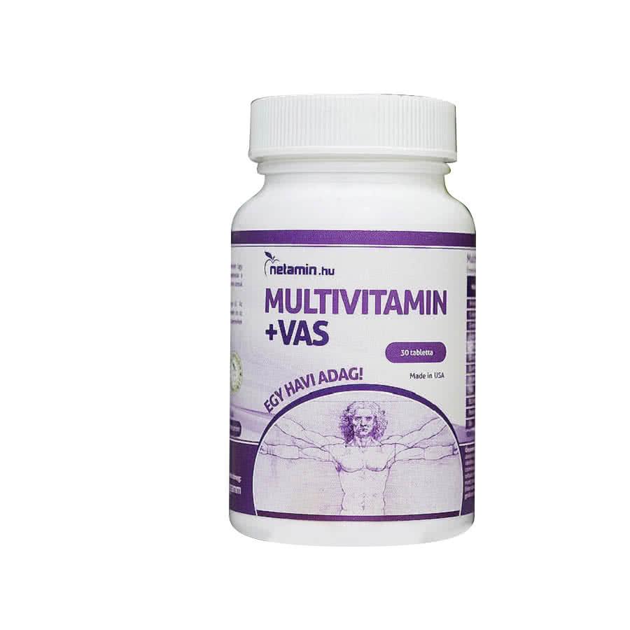 Netamin Multivitamin+vas 30 kap.