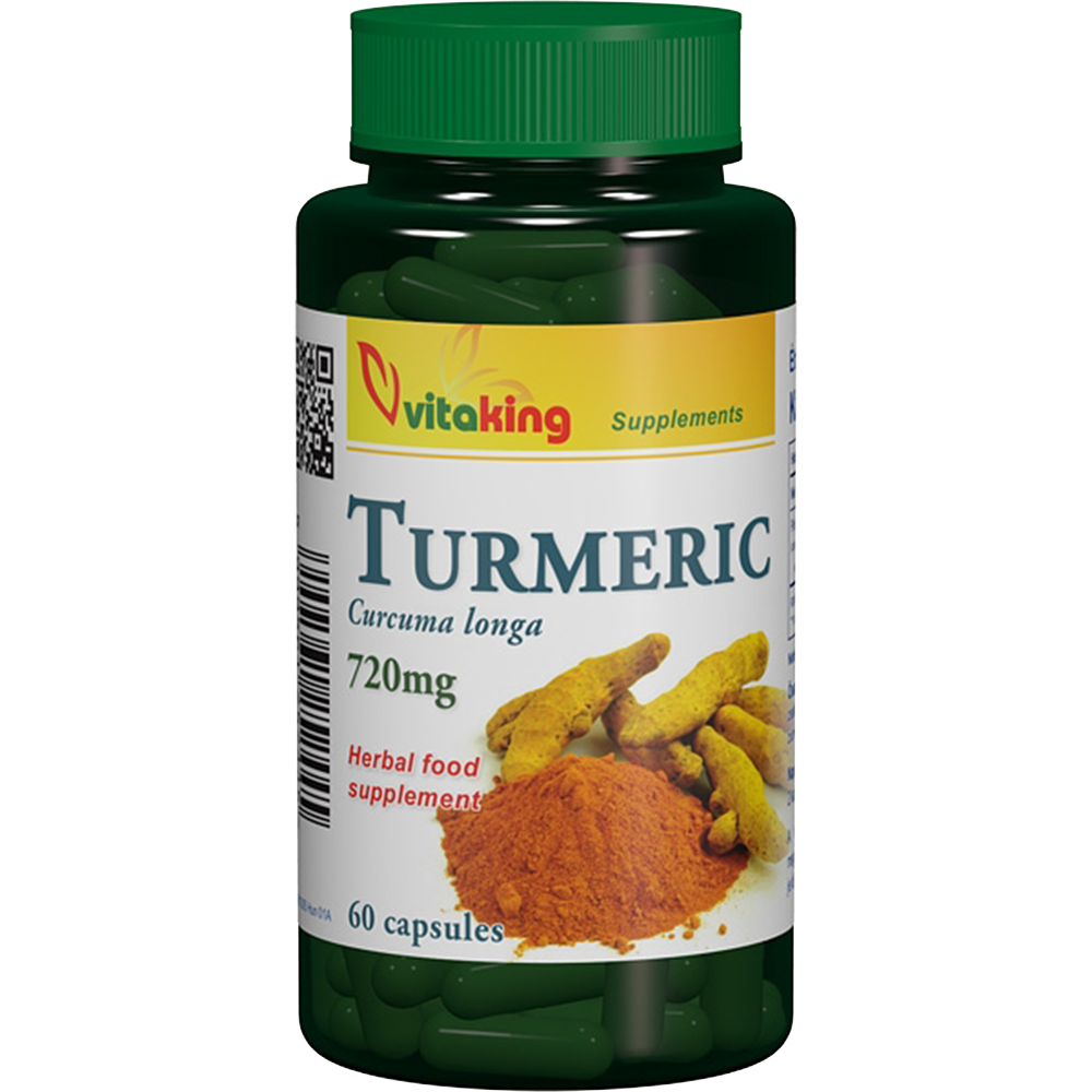 VitaKing Turmeric (Curcuma longa) - Kurkuma 60 kap.