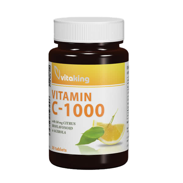 VitaKing Vitamin C-1000 with Bioflavonoids 30 tab.