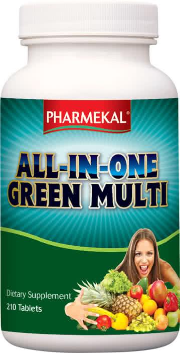 Pharmekal ALL-IN-ONE Green multi-vitamin 210 tab.
