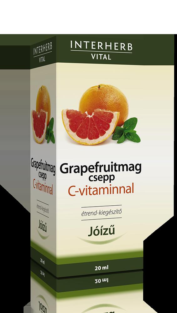 Interherb Grapefruitmag csepp Vital + C-vitamin 20 ml.