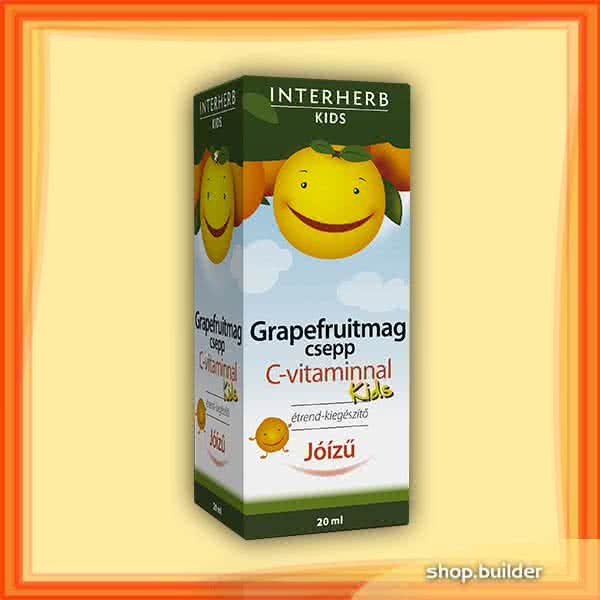 Interherb Grapefruitmag csepp Kids + C-vitamin 20 ml.