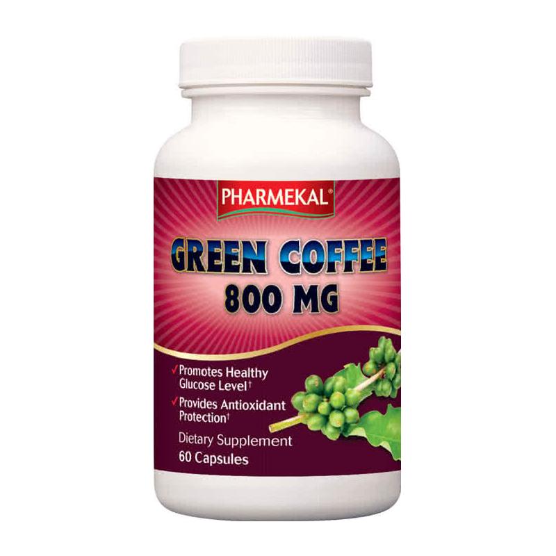 Pharmekal Zöldkávé Kivonat (Green coffee 800 mg) 60 kap.