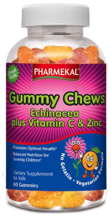 Pharmekal Gummy Chew Echinea C-vitamin, cink zselé-drazsé 60 r.t.