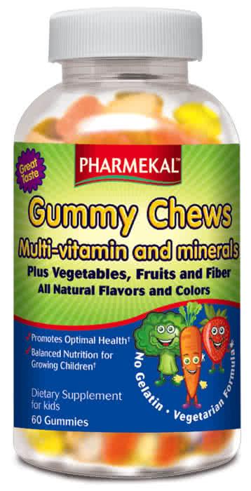 Pharmekal Gummy Chews Multi-Vitamin plus Vegetables 60 r.t.