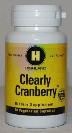 Highland Clearly Cranberry (Tőzegáfonya) 60 kap.