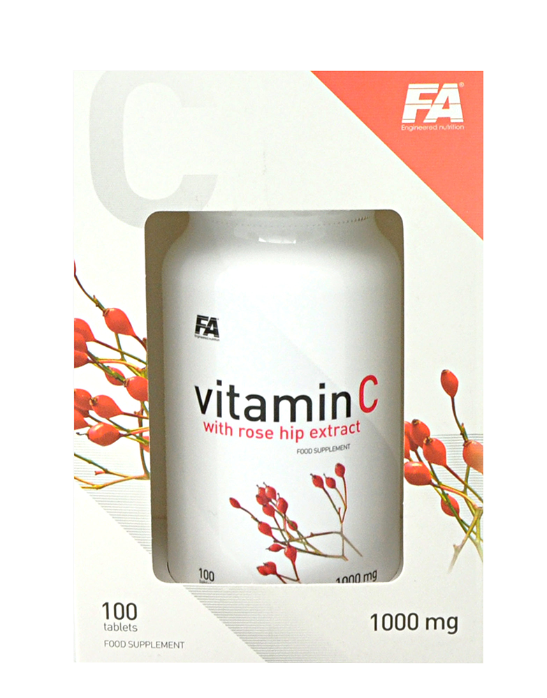 Fitness Authority Vitamin C with Rose Hips 100 kap.