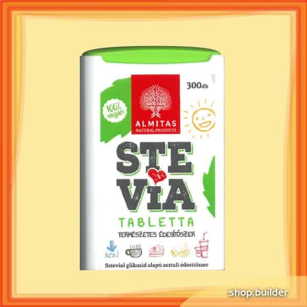 Almitas Stevia (sztívia) tabletta 300 tab.