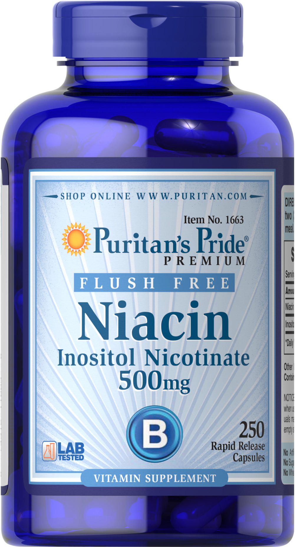 Puritan`s Pride Niacin 250 tab.
