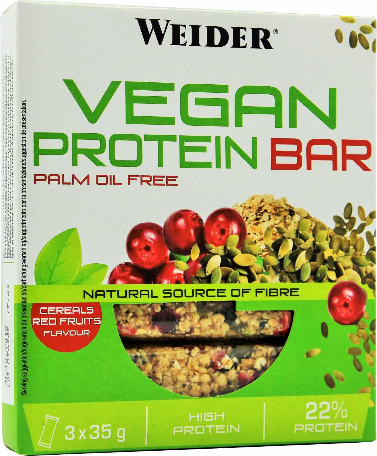 Weider Nutrition Vegan Protein Bar 3x35 g