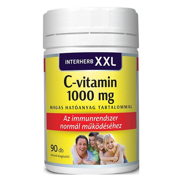 Interherb XXL C-Vitamin 1000mg 90 kap.