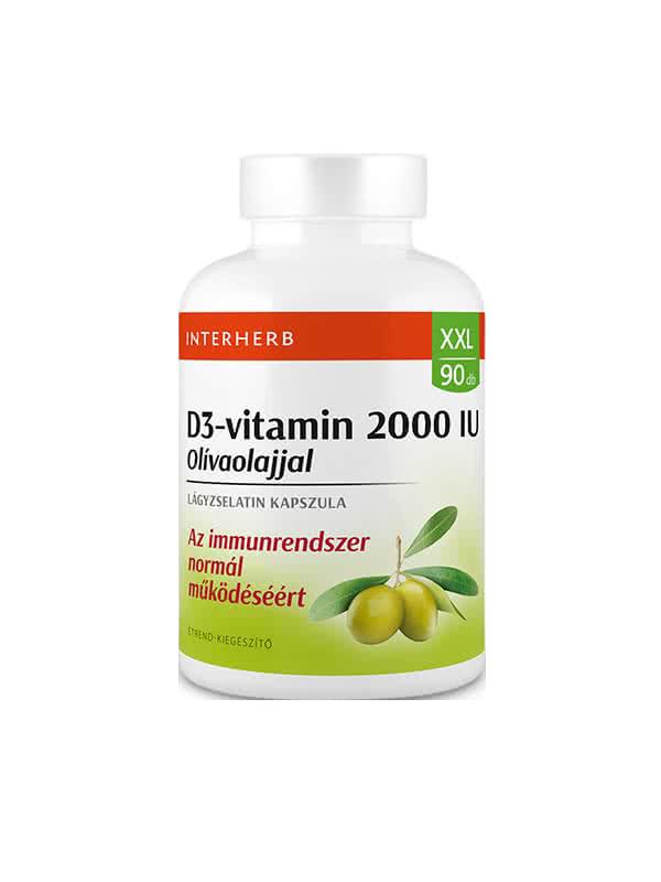 Interherb XXL D3 Vitamin 2000 IU 90 g.k.