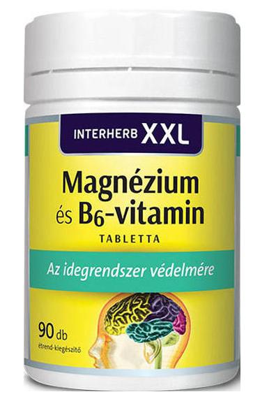 Interherb XXL Magnézium + B6-Vitamin 90 kap.