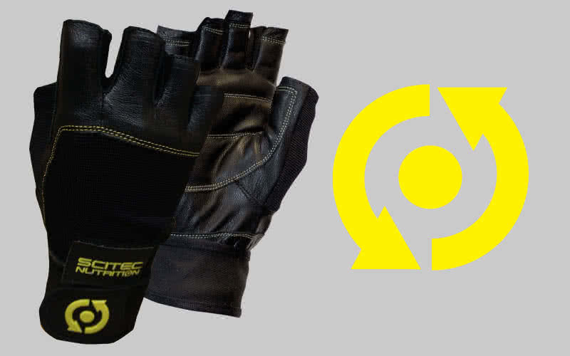 Scitec Nutrition Yellow Leather Style edzőkesztyű pár