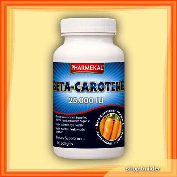 Pharmekal Beta-Carotene 25,000 IU 100 kap.