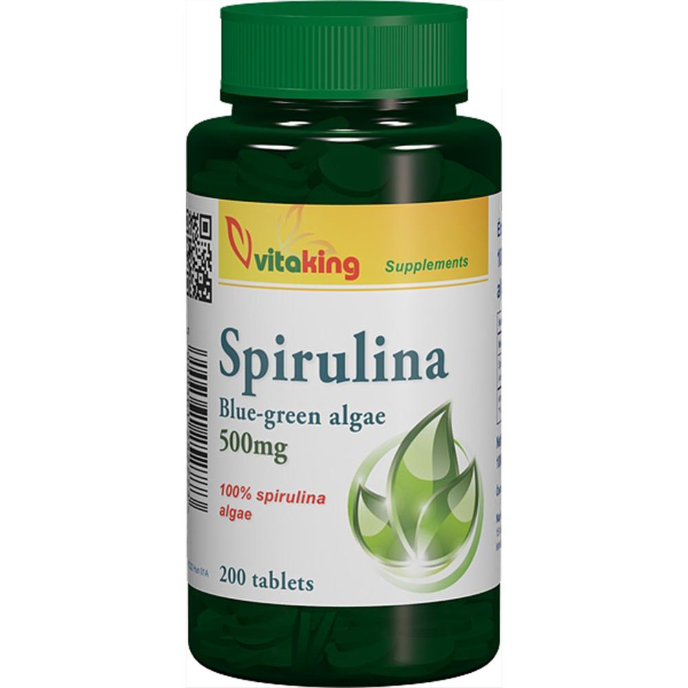 VitaKing Spirulina alga tabletta  200 tab.