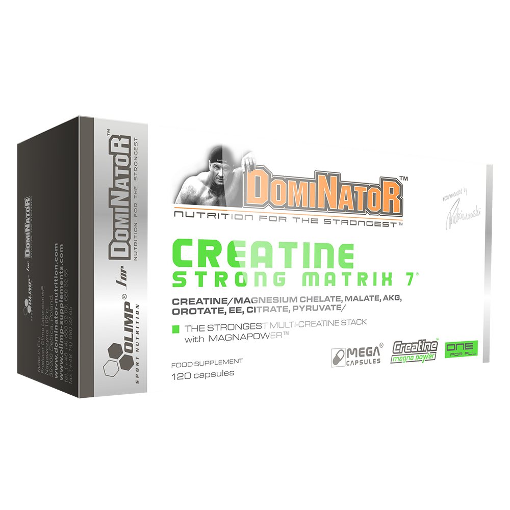 Olimp Sport Nutrition Dominator Creatine Strong Matrix 7 120 kap.