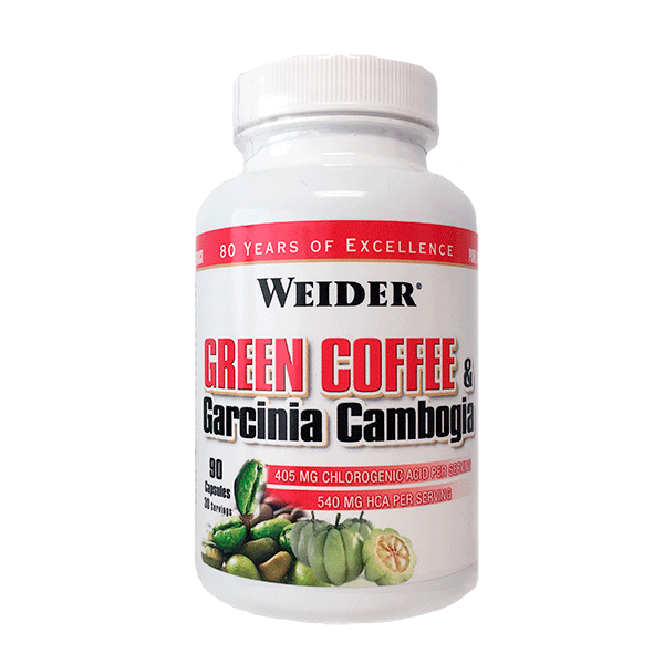 Weider Nutrition Green Coffee and Garcinia Cambogia 90 kap.