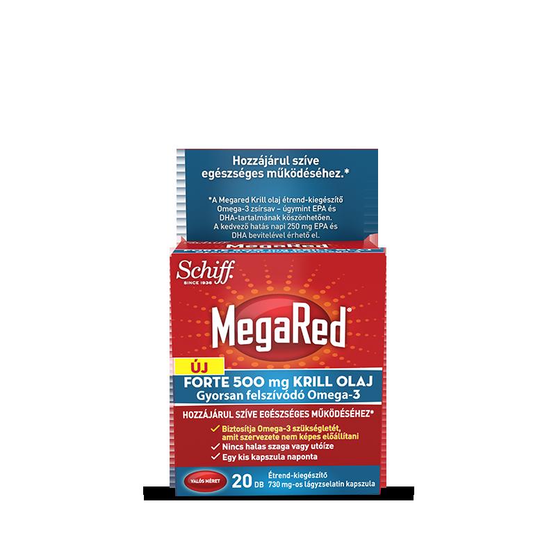 Schiff MegaRed® Forte Krill Olaj  20 kap.