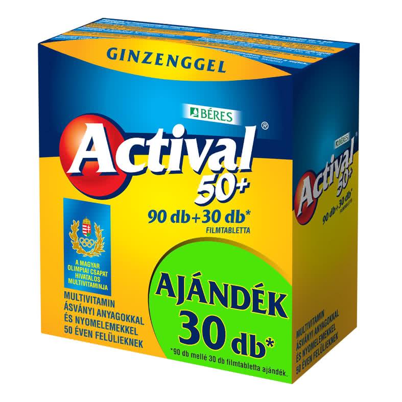 Béres Actival 50+ 90 tab.+30 tab.