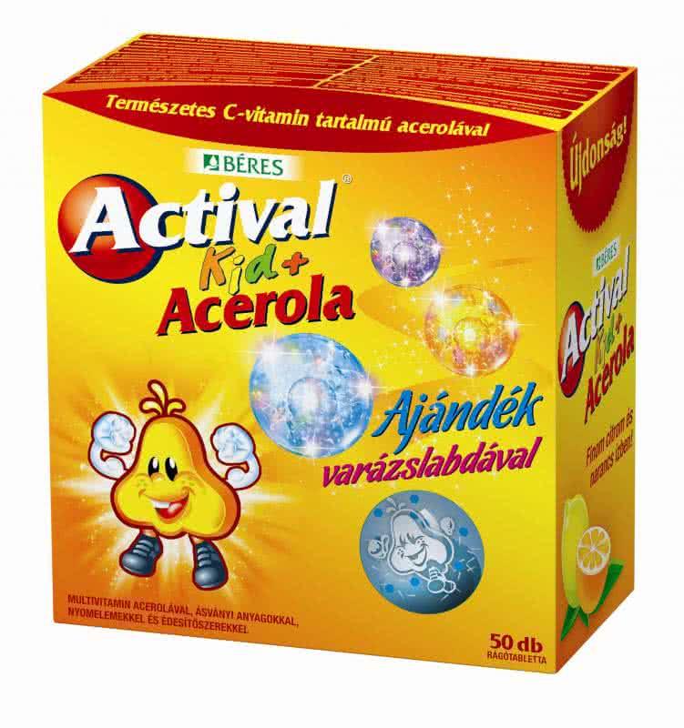 Béres Actival Kid + Acerola 50 tab.