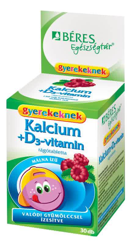 Béres Kálcium + D3 vitamin gyerekeknek 30 r.t.