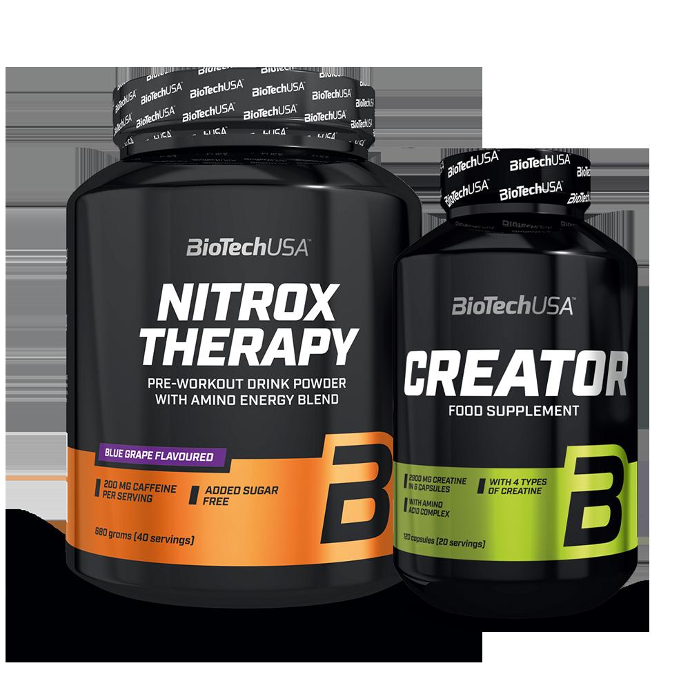 BioTech USA Nitrox Therapy + CreaTOR szett