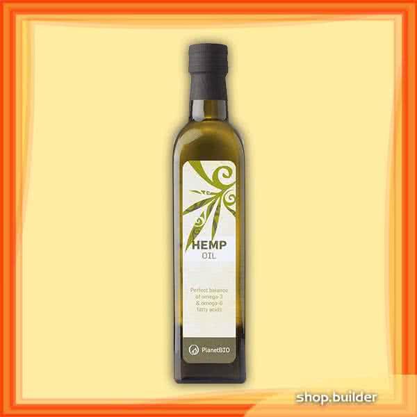 PlanetBio Hidegen sajtolt organikus kendermag olaj 250 ml