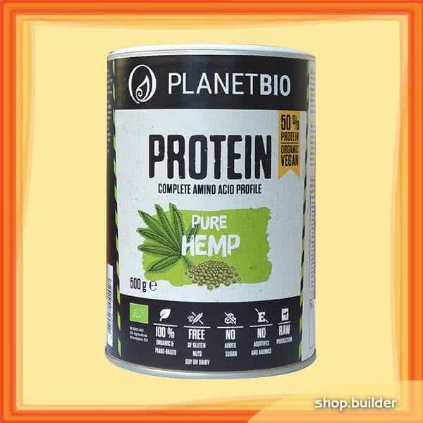 PlanetBio Kendermag fehérjepor (Hemp Protein) 0,5 kg