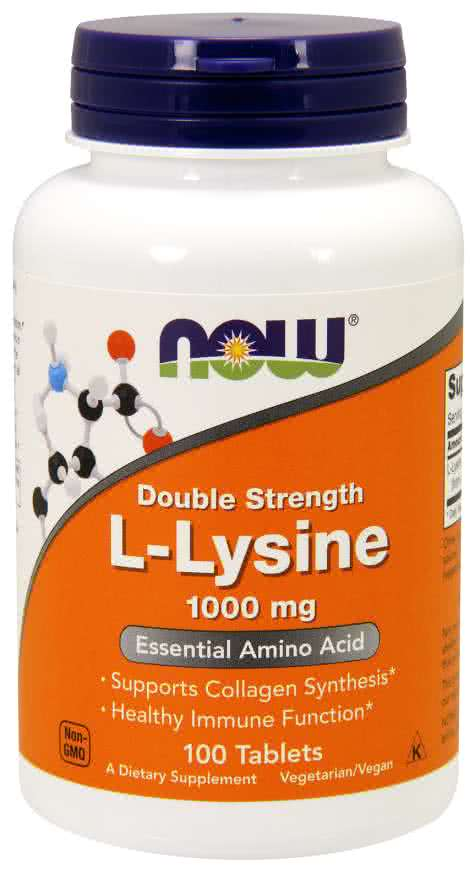Now Foods L-Lysine 100 tab.