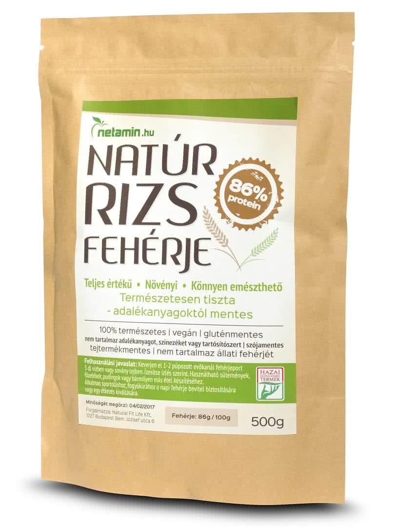 Netamin Natúr Rizs Fehérje 0,5 kg
