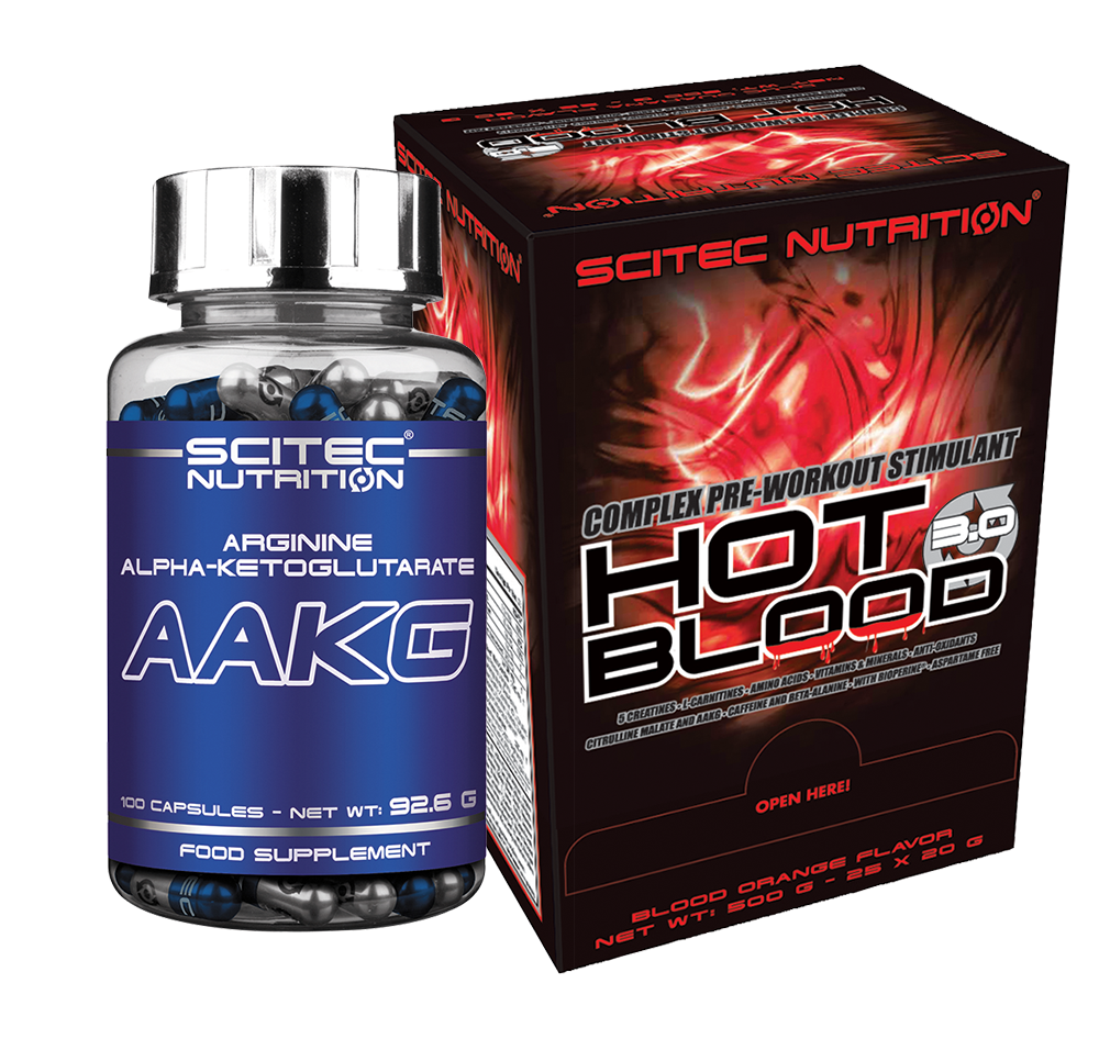Scitec Nutrition Hot Blood 3.0 + AAKG szett