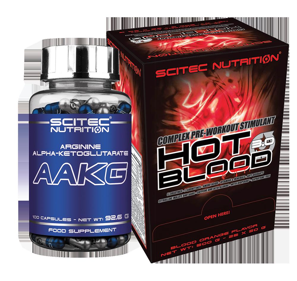 Scitec Nutrition Hot Blood 3.0 + AAKG szett