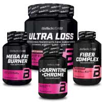 BioTech USA Ultra Loss + L-Carnitine + Mega Fat Burner + Fiber Complex (szett)