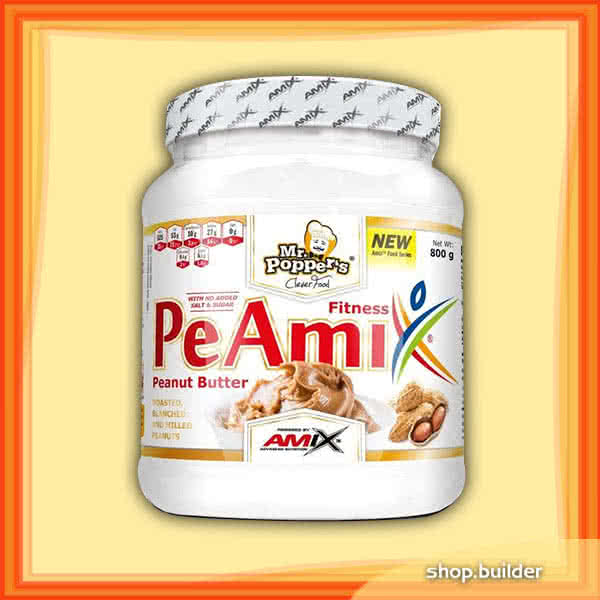 Amix Mr.Popper´s PeAmix® Fitness Peanut Butter 800 gr.