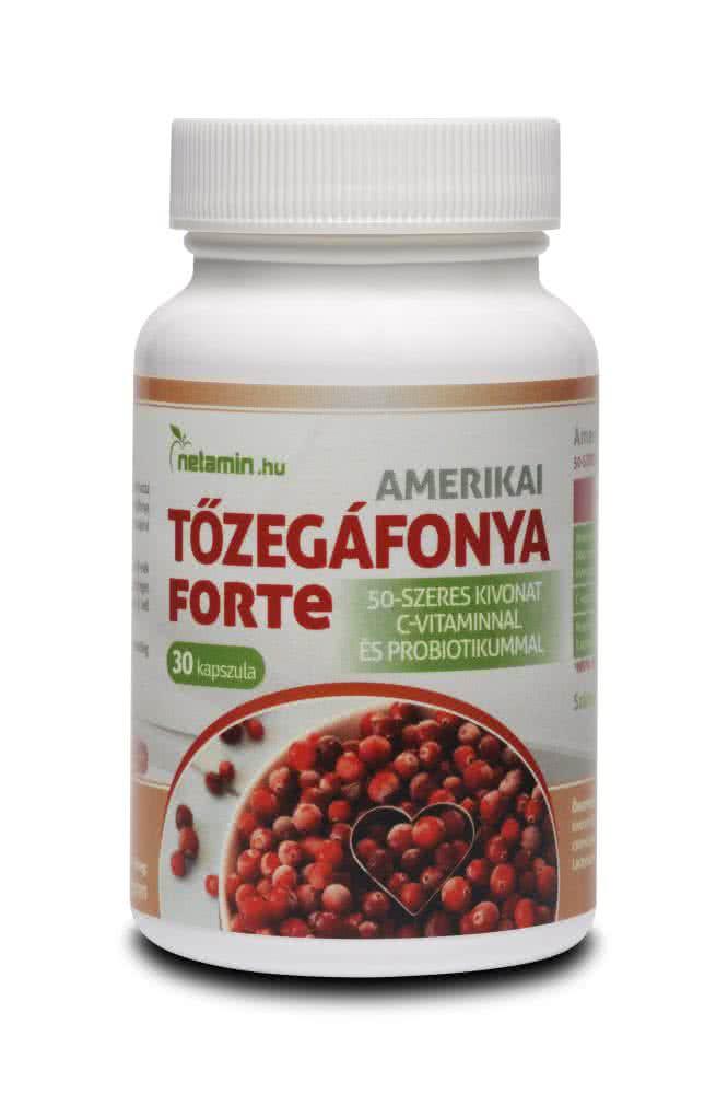 Netamin Amerikai Tőzegáfonya Forte 30 kap.