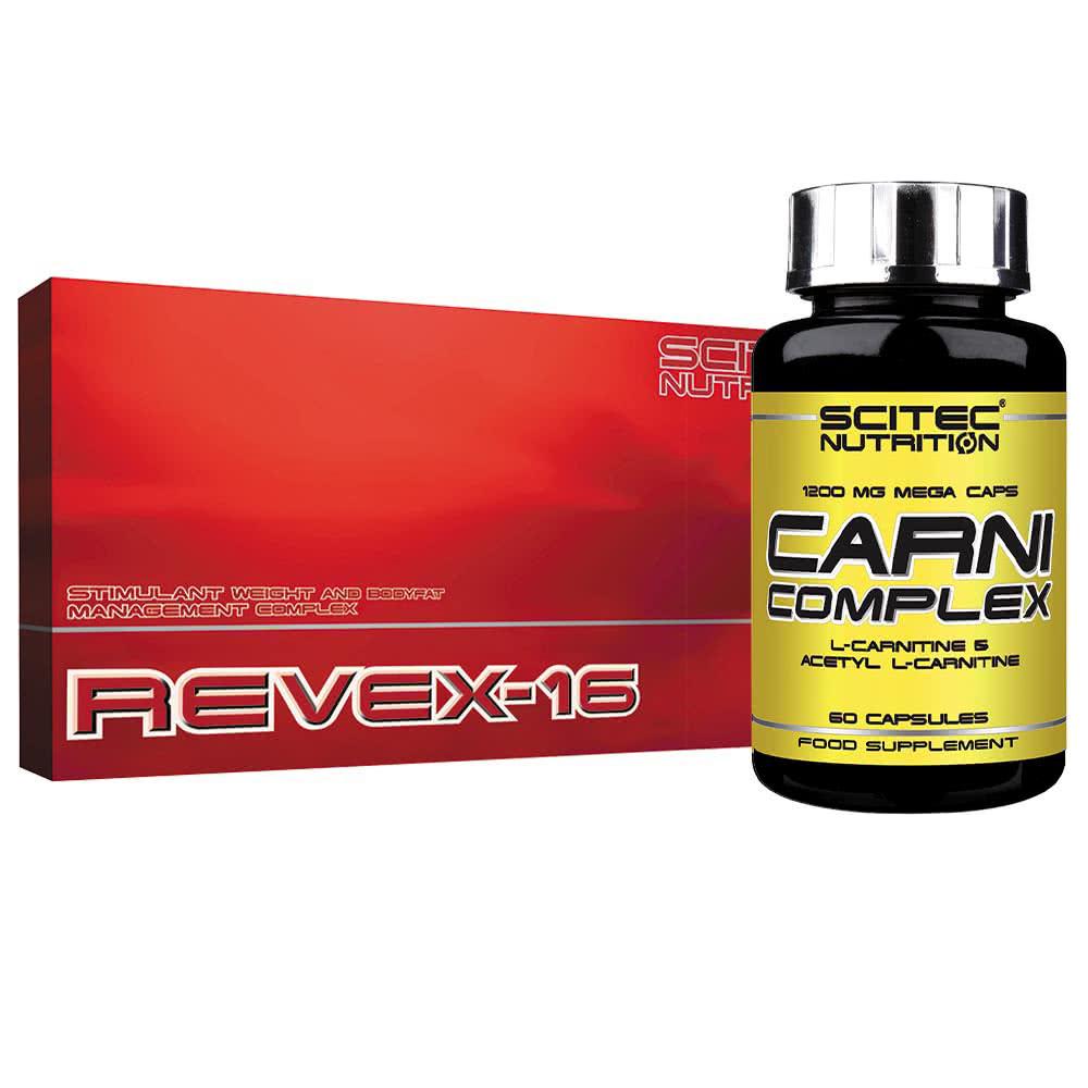 Scitec Nutrition Revex-16 + Carni Complex szett