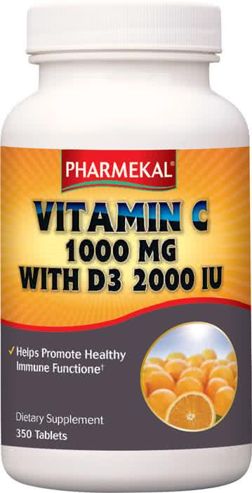 Pharmekal C-1000 mg + D3 2000 IU Komplex 350 tab.