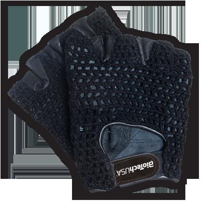 BioTech USA Horgolt kesztyű - bőr tenyérrel (Phoenix 1) pár