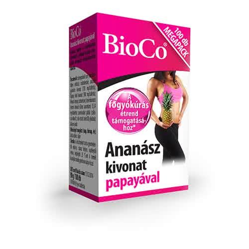 BioCo Ananász kivonat papayával 100 tab.