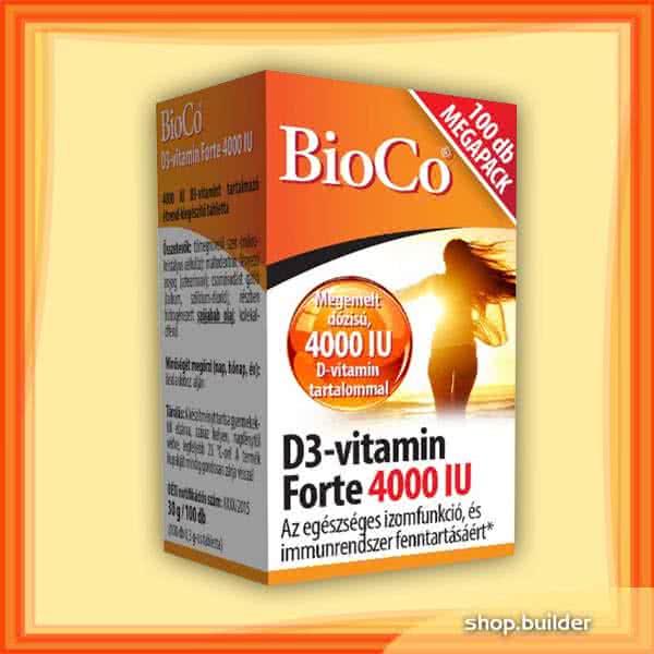 BioCo Vitamin D3 Forte 4000IU 100 tab.
